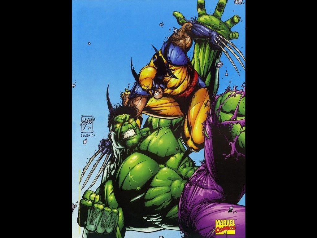 Comics Wallpaper: Hulk vs Wolverine