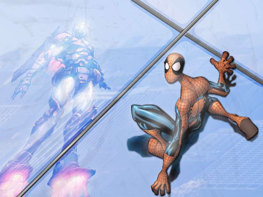 Comics Wallpaper: Iron Man and Spider-Man