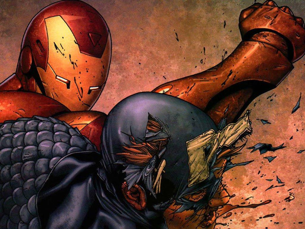 Comics Wallpaper: Iron Man vs Captain America