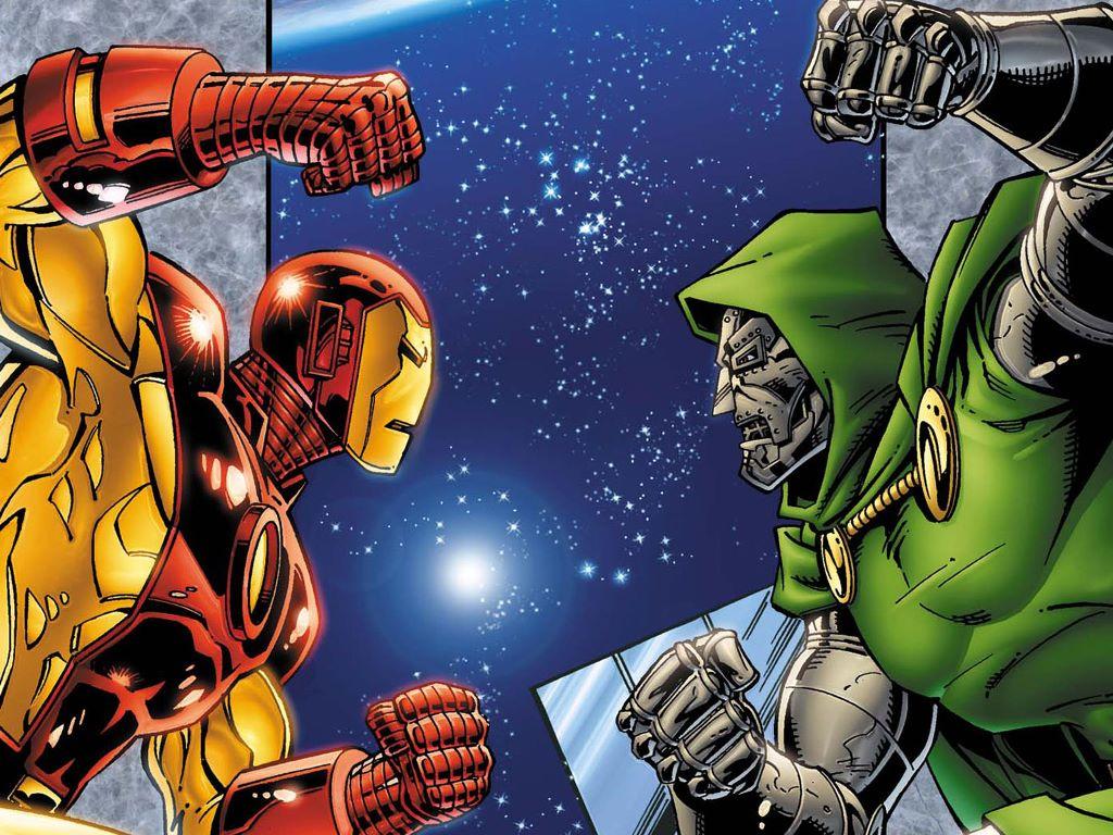 Comics Wallpaper: Iron Man vs Doctor Doom