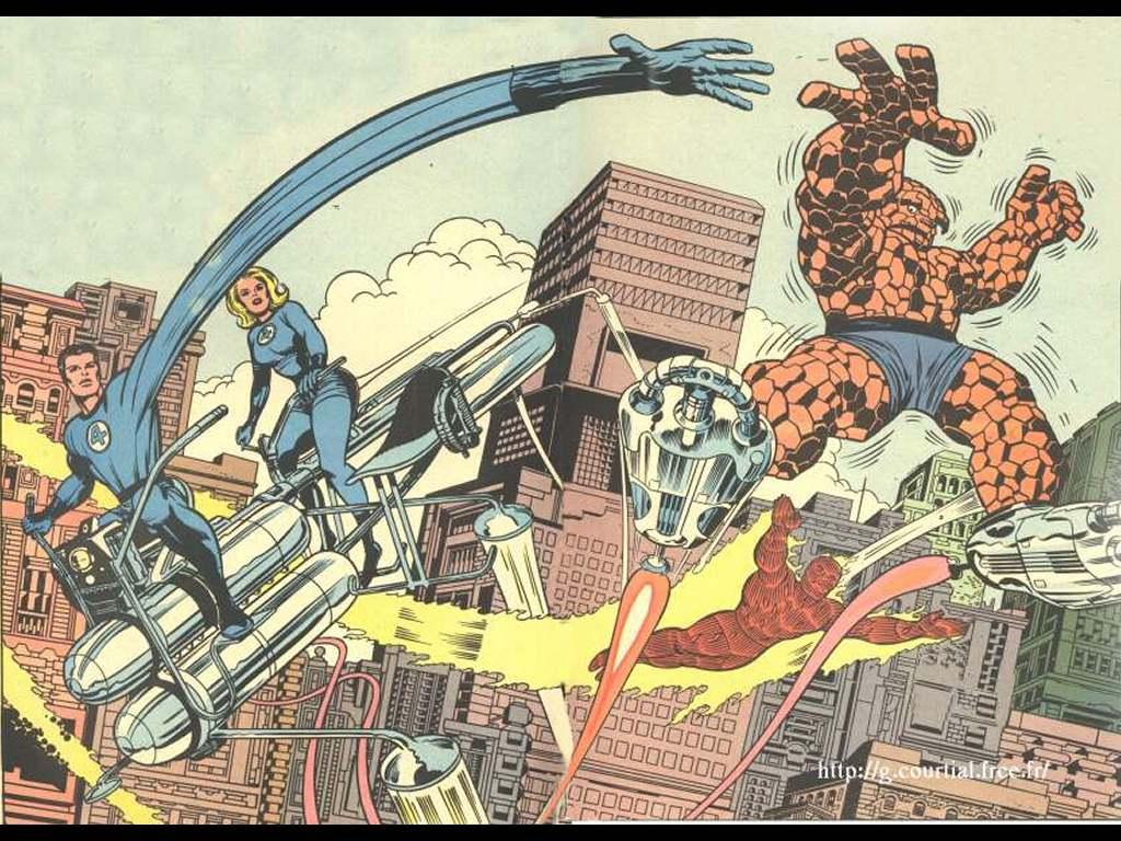 Papel de Parede Gratuito de Quadrinhos : Jack Kirby - Quarteto Fantástico