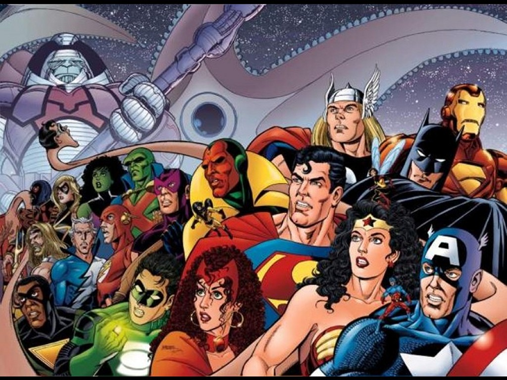 Comics Wallpaper: JLA vs Avengers