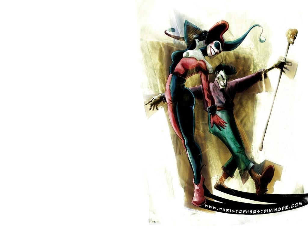 Comics Wallpaper: Joker and Harley Quinn