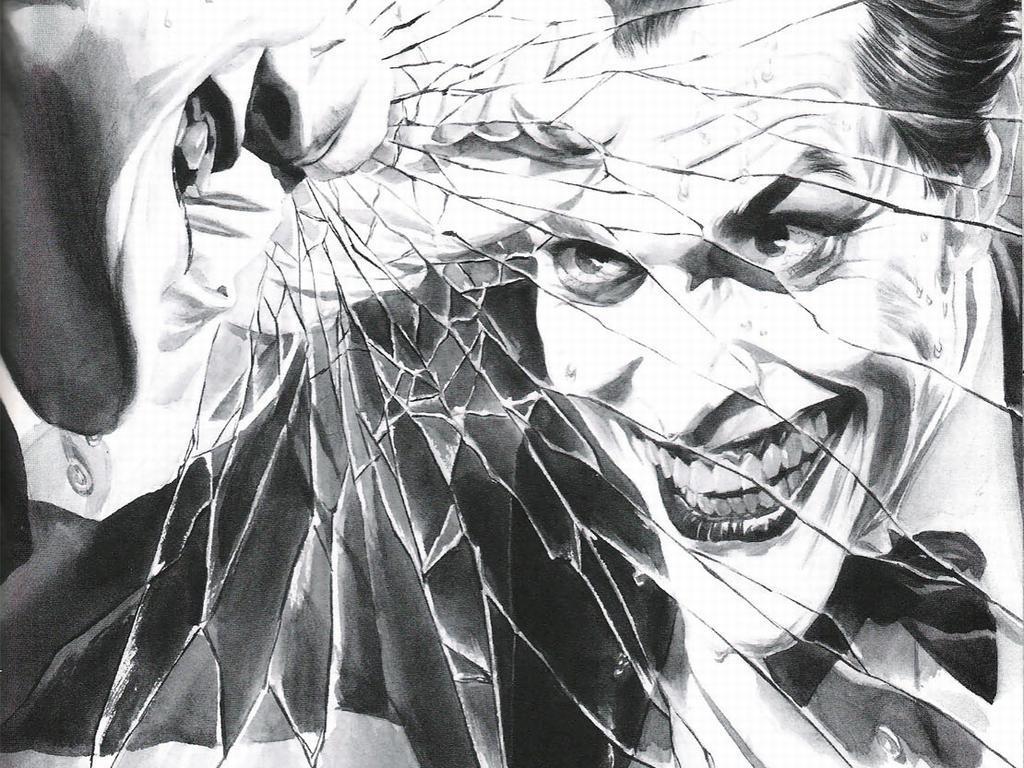 Comics Wallpaper: Joker - Black and White