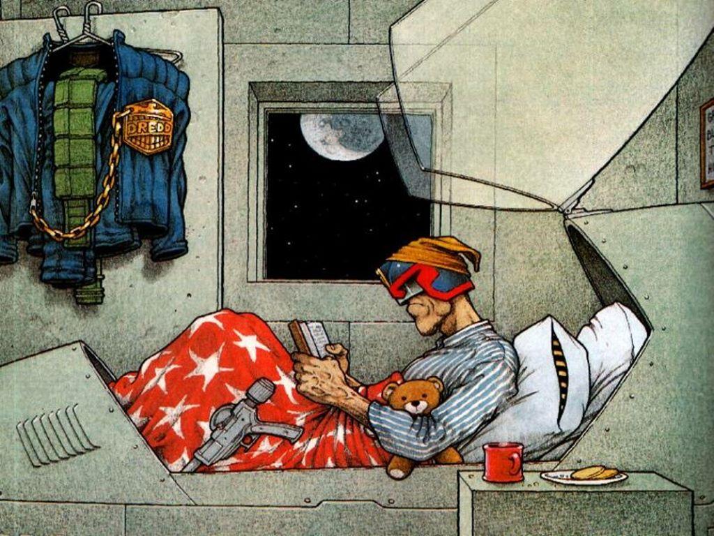 Comics Wallpaper: Judge Dredd - Bedtime