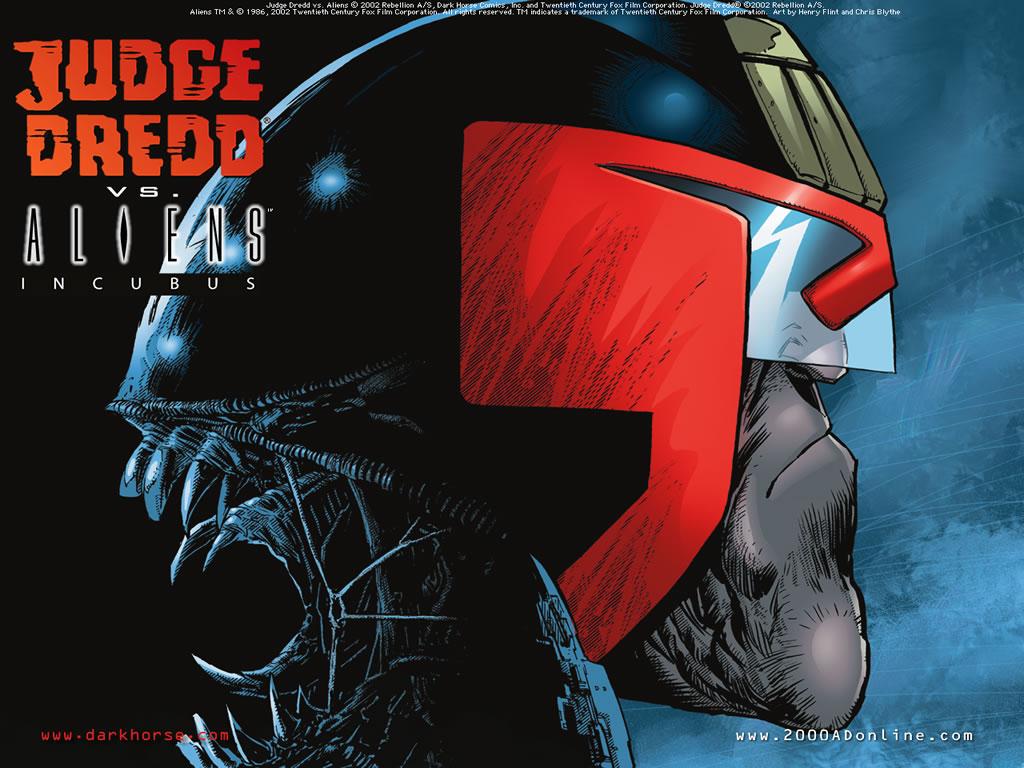 Comics Wallpaper: Judge Dredd vs. Aliens