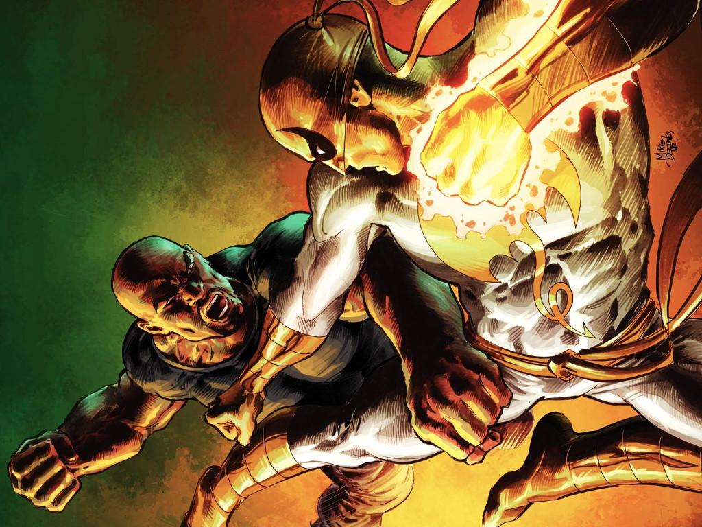 Comics Wallpaper: Luke Cage vs Power Fist