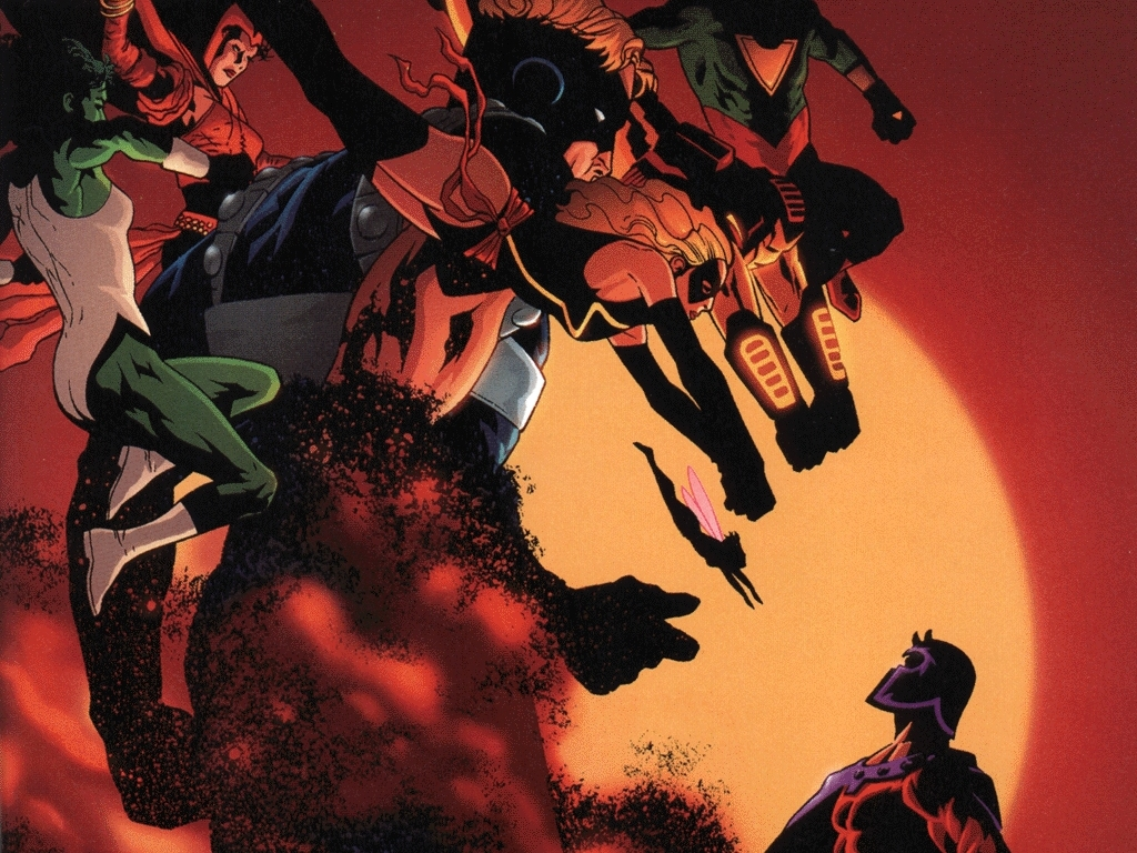 Comics Wallpaper: Magneto vs Avengers