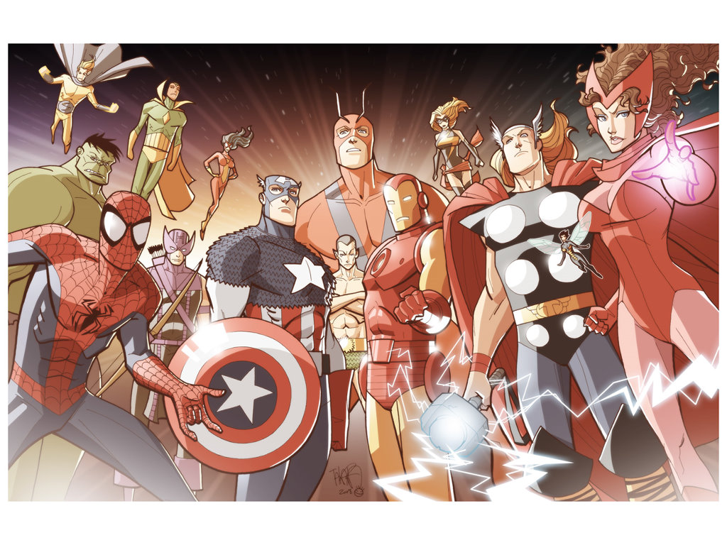 Comics Wallpaper: Marvel Heroes (by Marcio Takara)