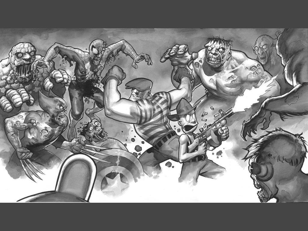 Comics Wallpaper: Marvel Zombies vs Goon