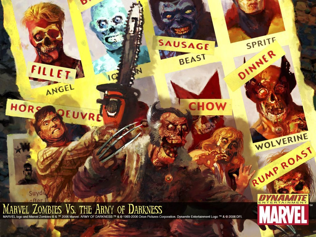 Comics Wallpaper: Marvel Zombies vs The Army of Darkness