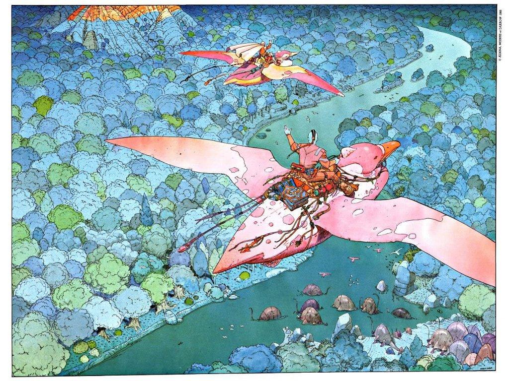 Comics Wallpaper: Moebius - Arzach