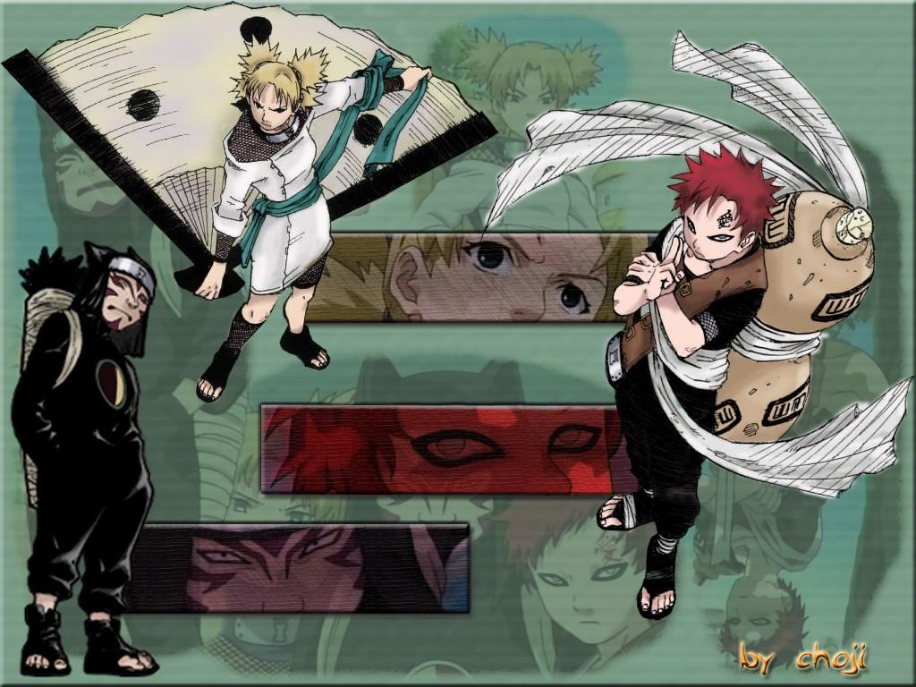 Comics Wallpaper: Naruto - Team Gaara