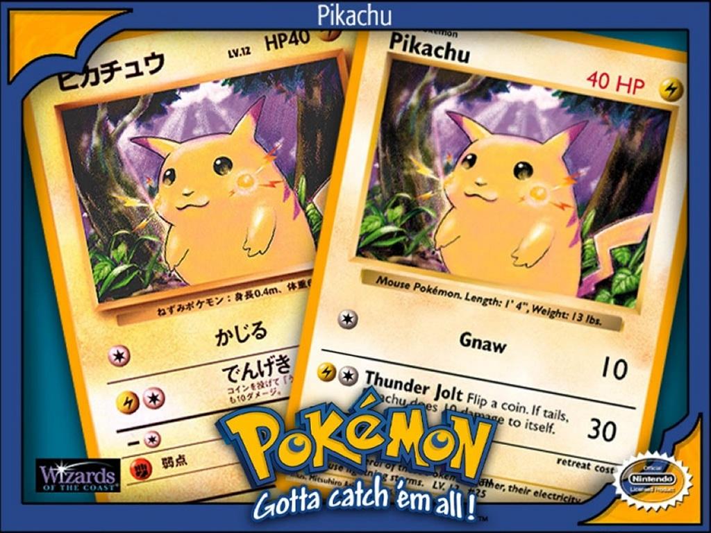 Comics Wallpaper: Pokemon - Pikachu Card