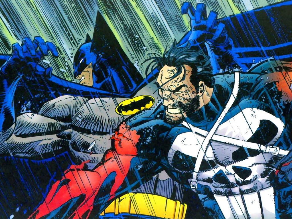 Comics Wallpaper: Punisher vs Batman