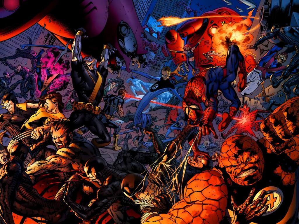 Comics Wallpaper: Marvel Heroes - Battle
