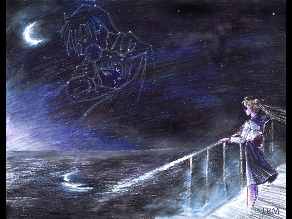 Comics Wallpaper: Sailor Moon - Tuxedo Mask and Usagi