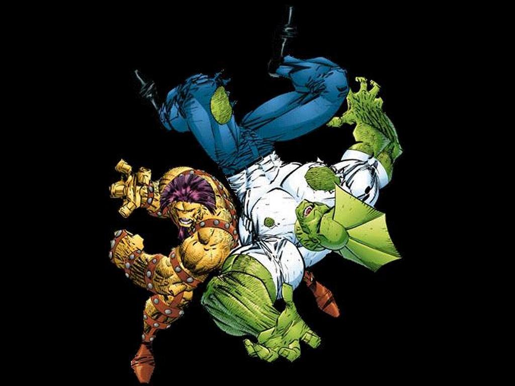 Comics Wallpaper: Savage Dragon vs Devastator