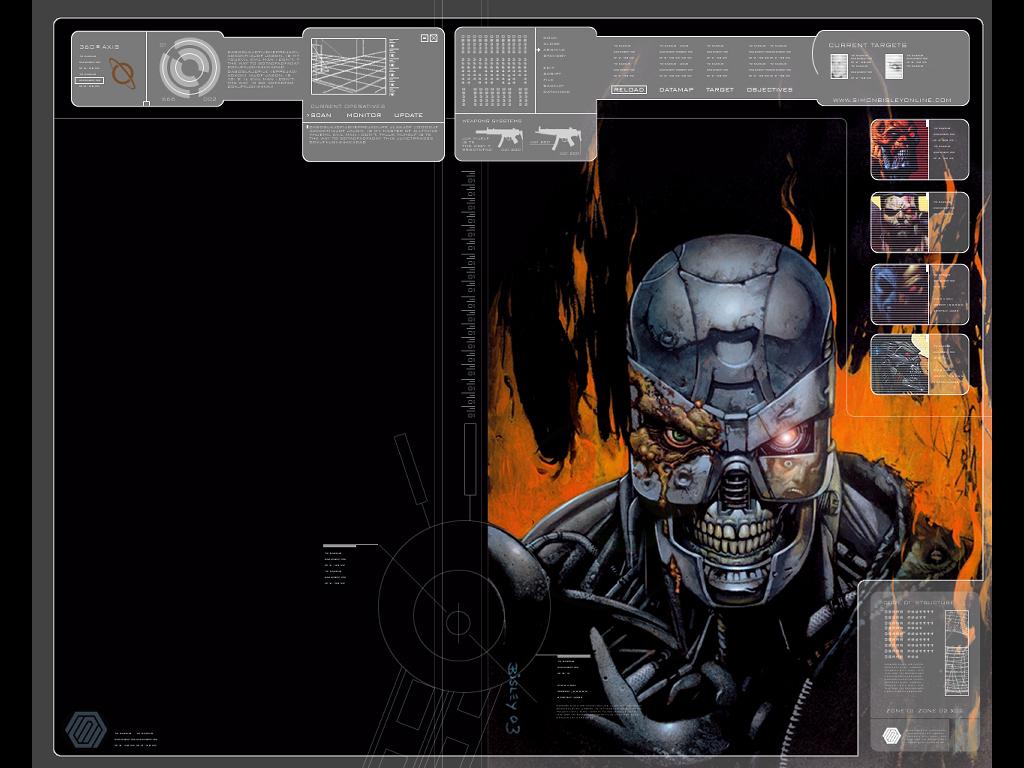 Comics Wallpaper: Simon Bisley - Terminator