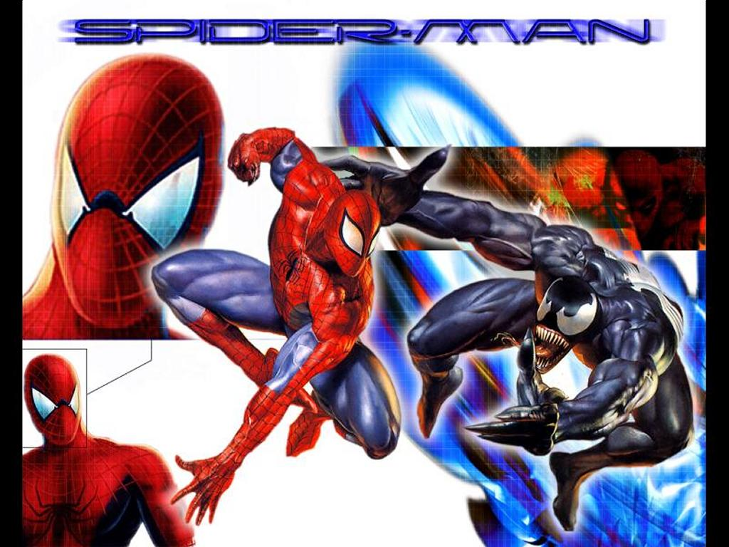 Comics Wallpaper: Spider Against Venom - Collage
