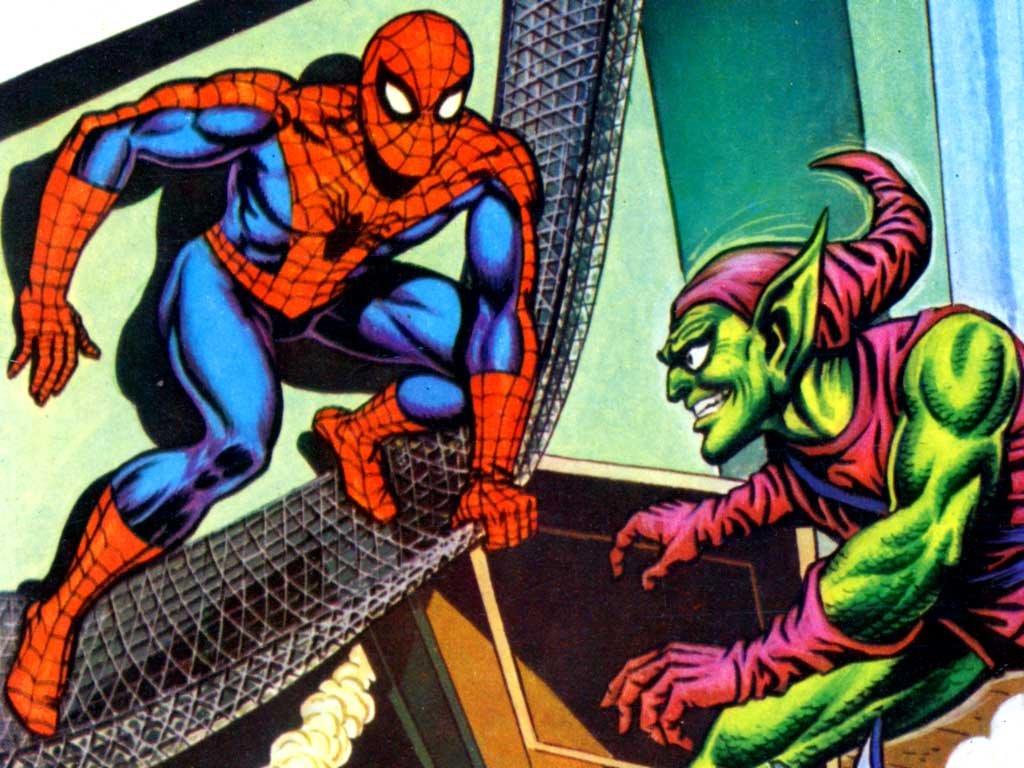 Comics Wallpaper: Classic Spider-Man and Green Goblin