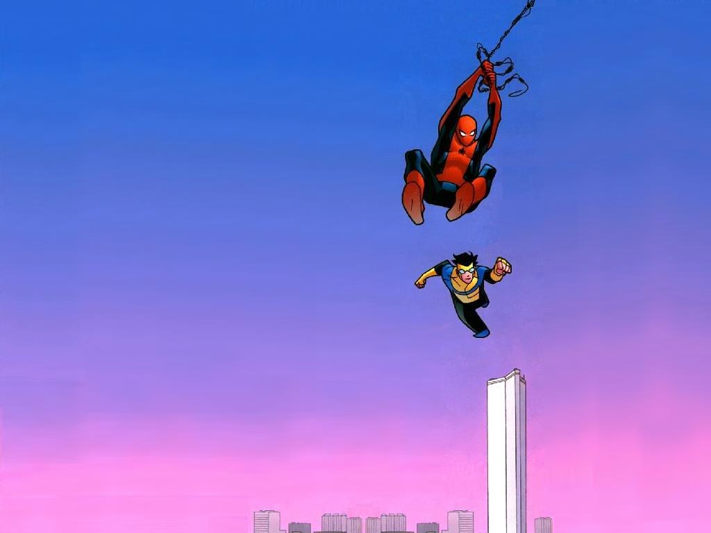 Comics Wallpaper: Spider-Man and Invincible