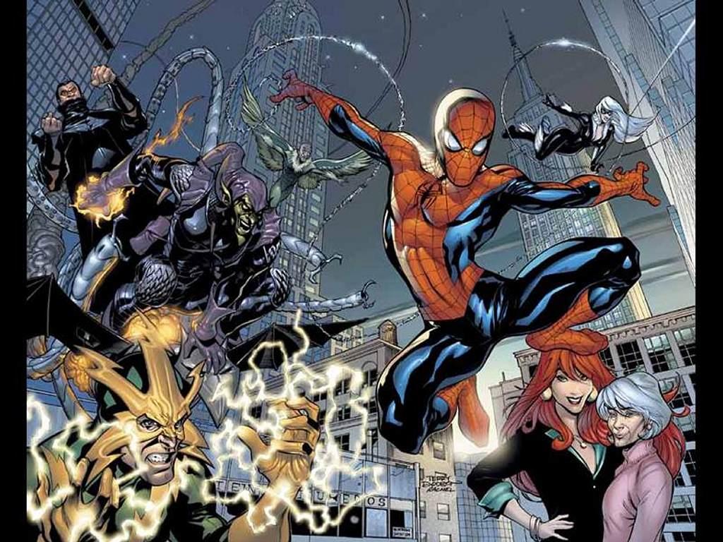 Comics Wallpaper: Spider-Man (Friends and Enemies)