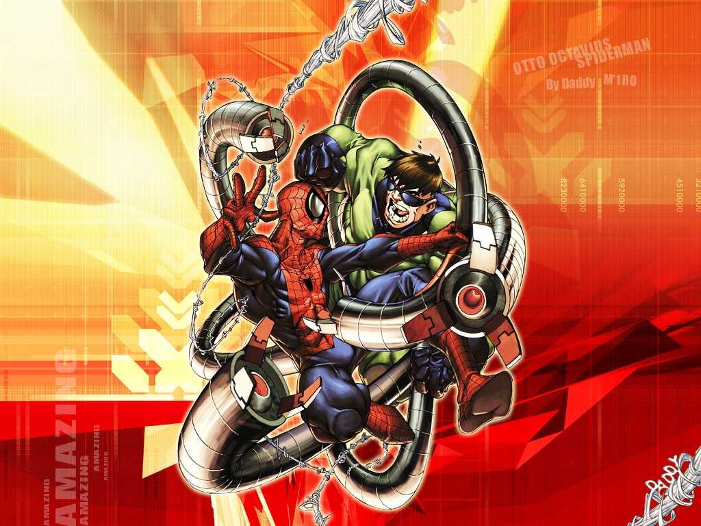 Comics Wallpaper: Spider-Man vs Doctor Octopus