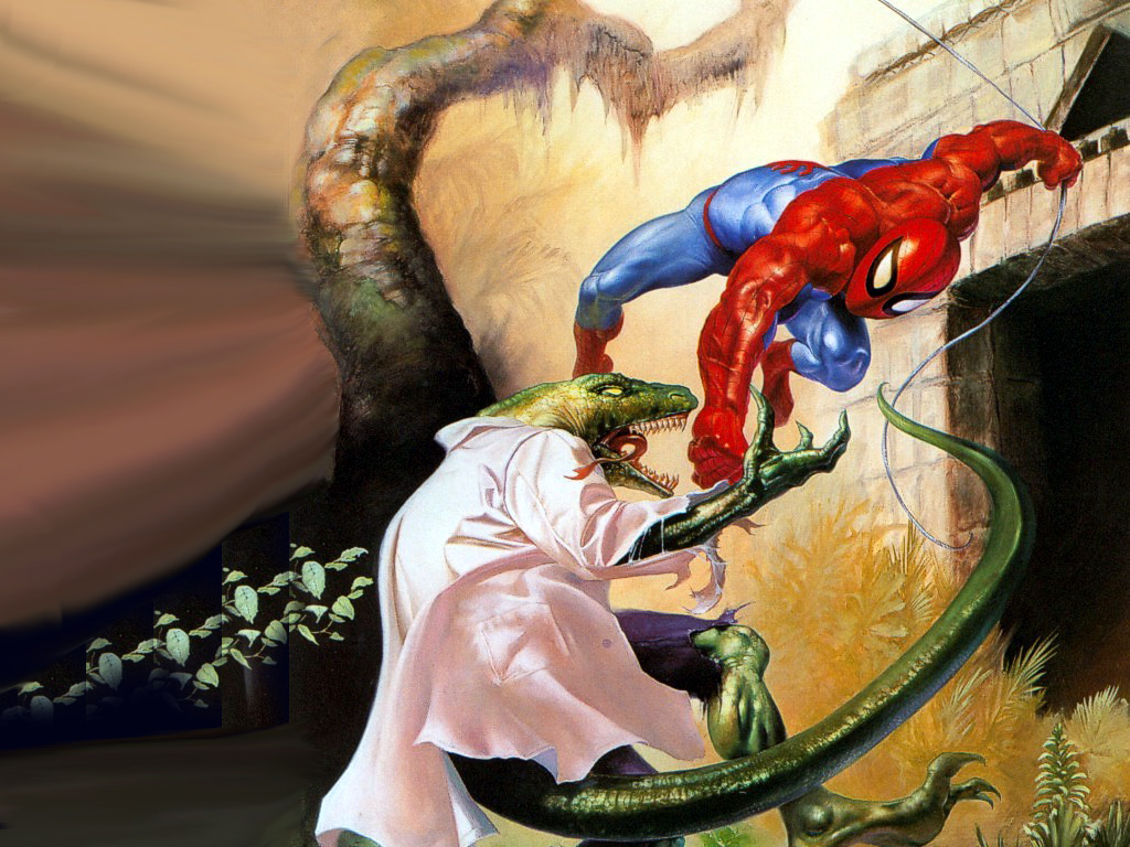 Comics Wallpaper: Spider-Man vs Lizard