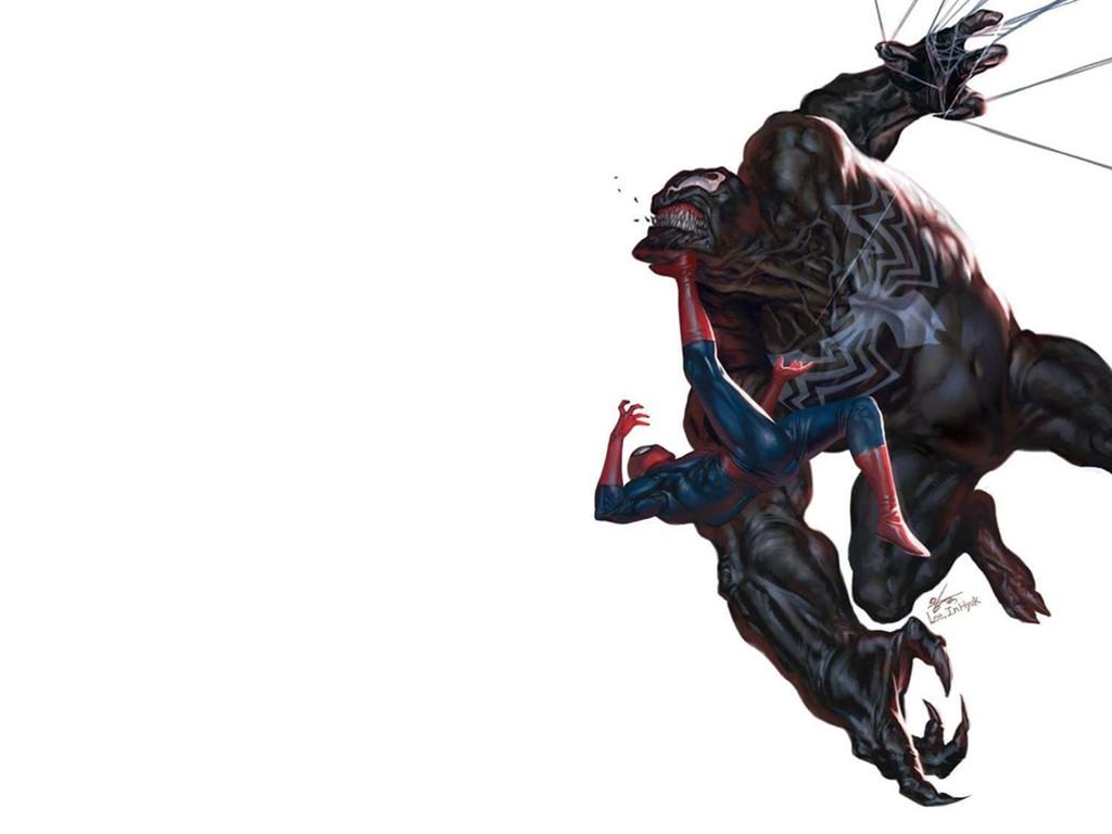 Comics Wallpaper: Spiderman vs Venom