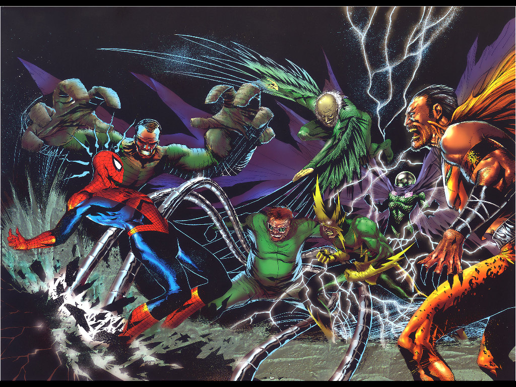 Comics Wallpaper: Spider-Man vs Villains