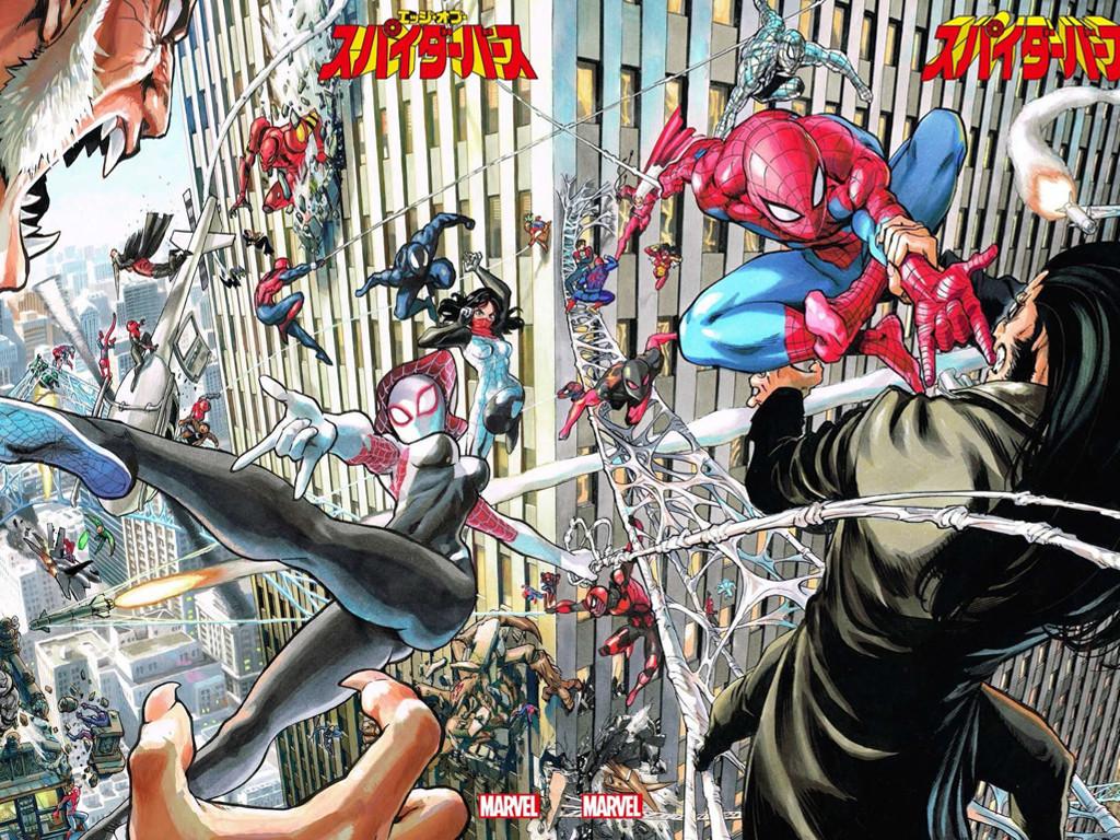 Comics Wallpaper: Spider-Men (by Murata)