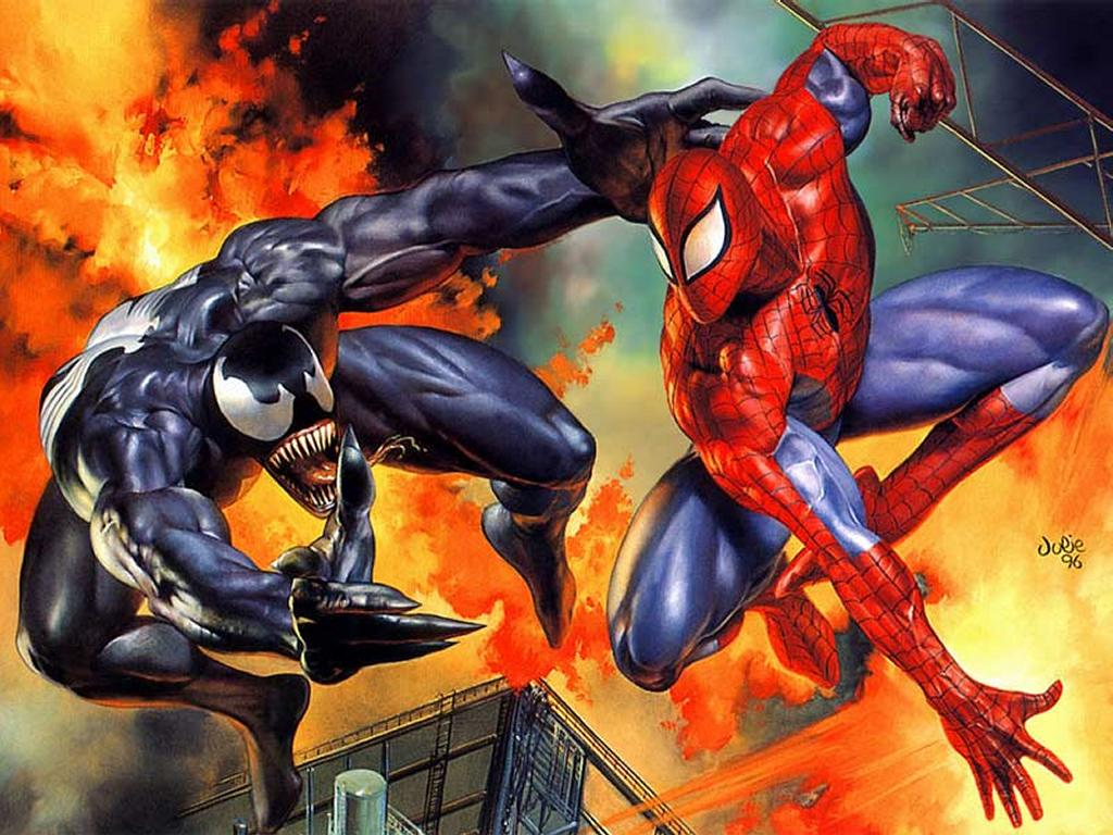 Comics Wallpaper: Spider vs Venom