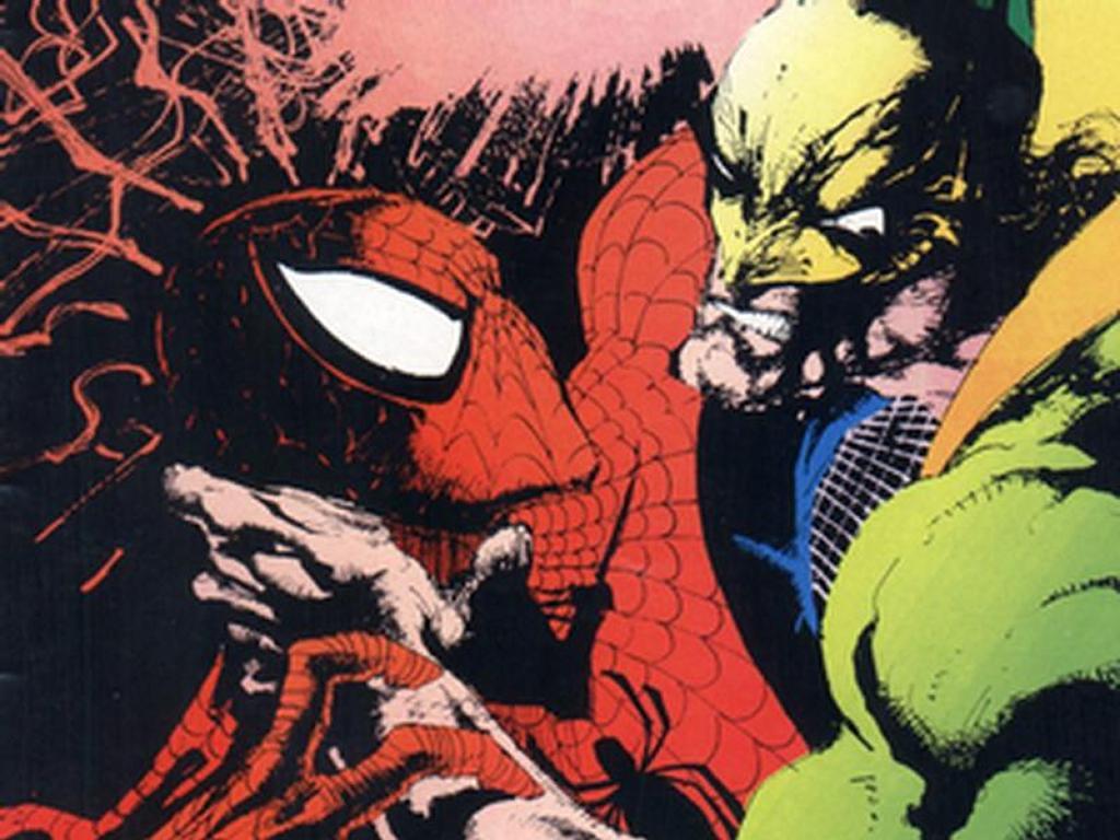 Comics Wallpaper: Spider-Man vs Iron Fist