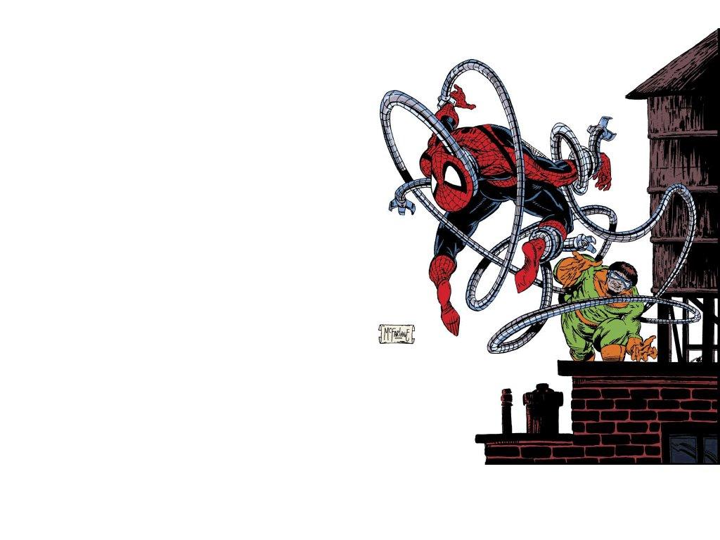 Comics Wallpaper: Spidey and Ock