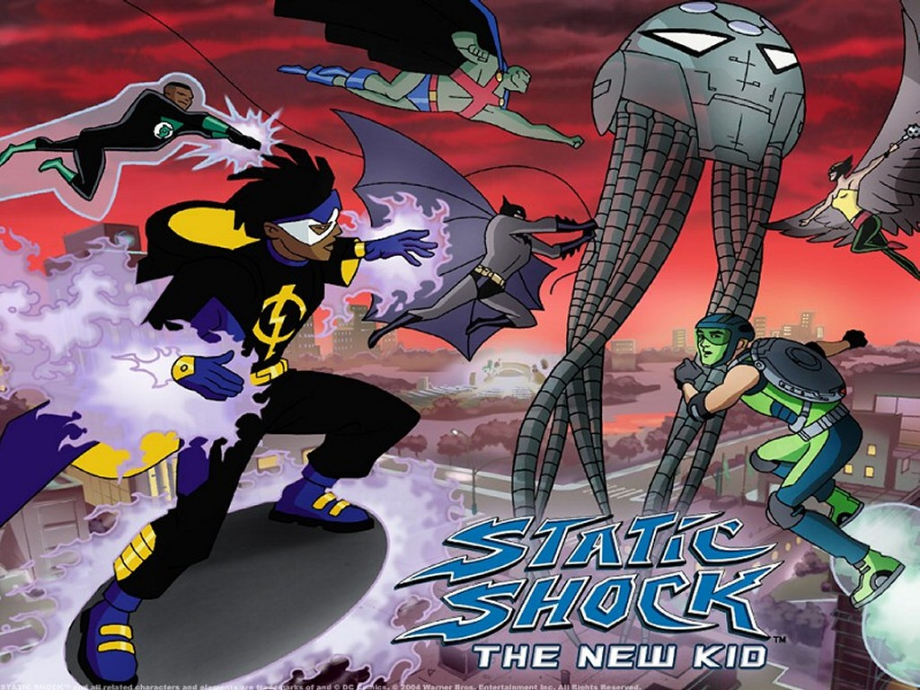 Comics Wallpaper: Static Shock and Justice League