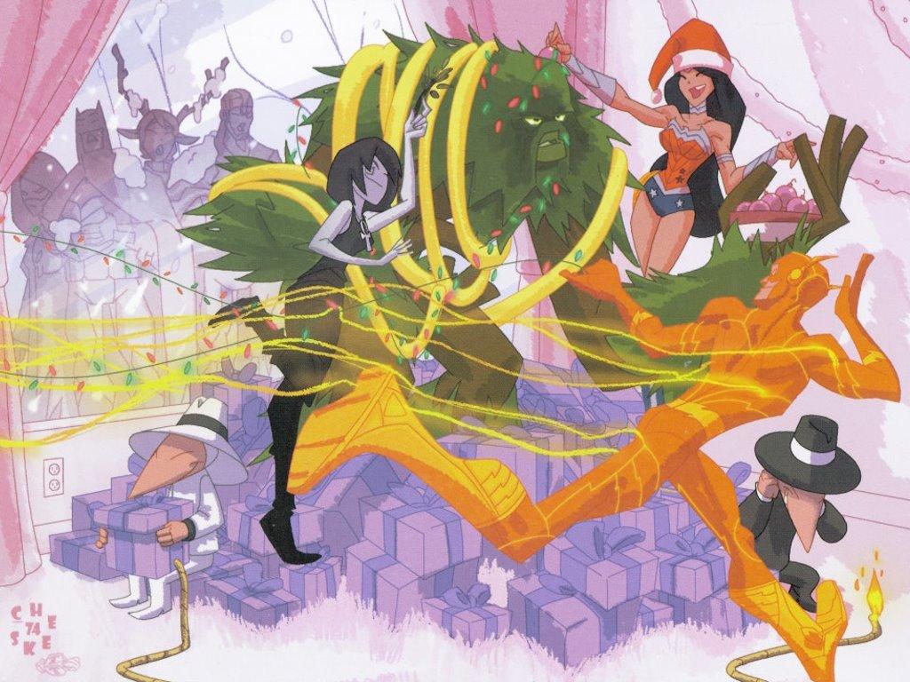 Comics Wallpaper: Super-Heroes Christmas Party