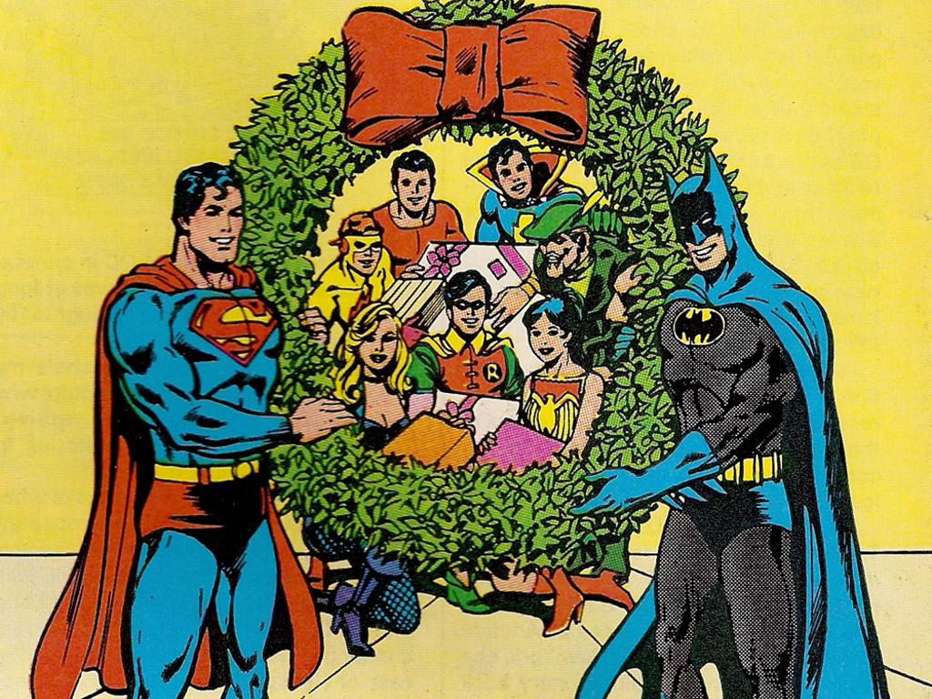 Comics Wallpaper: Superman and Batman - Christmas