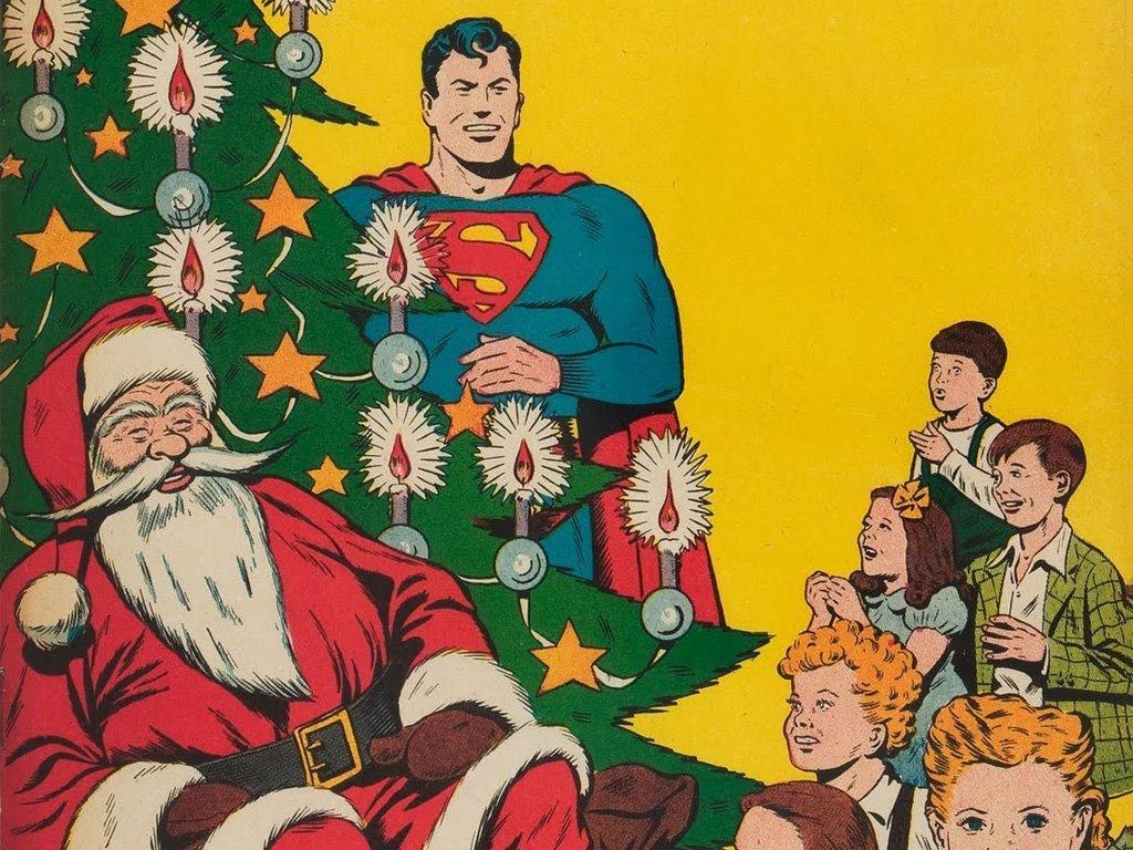 Comics Wallpaper: Superman and Santa Claus