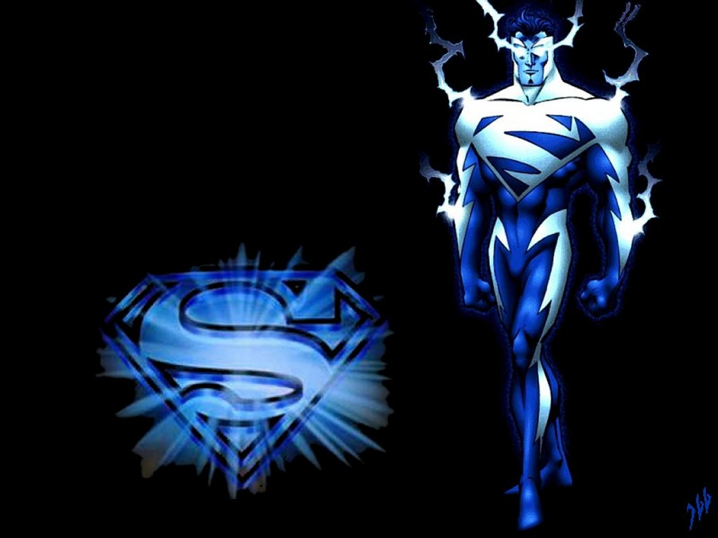 Comics Wallpaper: Superman Energy - Blue