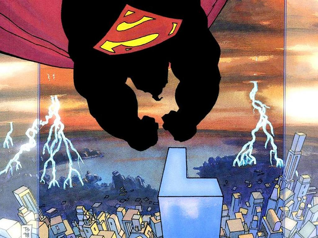 Comics Wallpaper: Superman - Fall