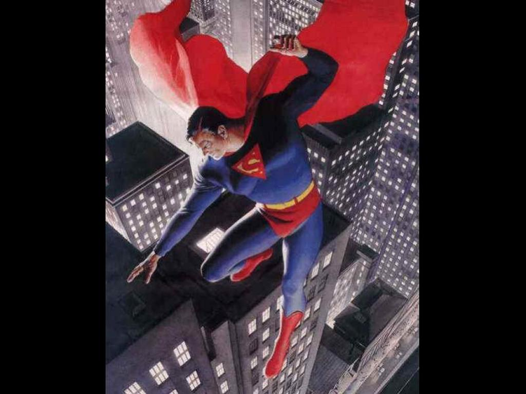 Comics Wallpaper: Superman Flying