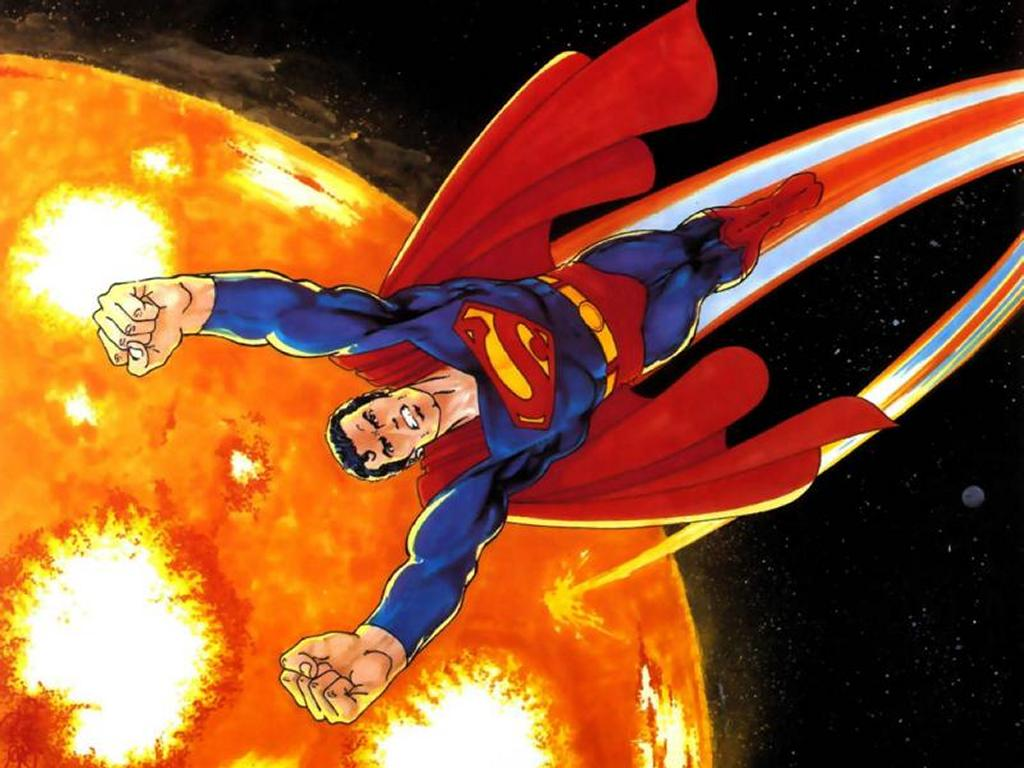 Comics Wallpaper: Superman into the Sun