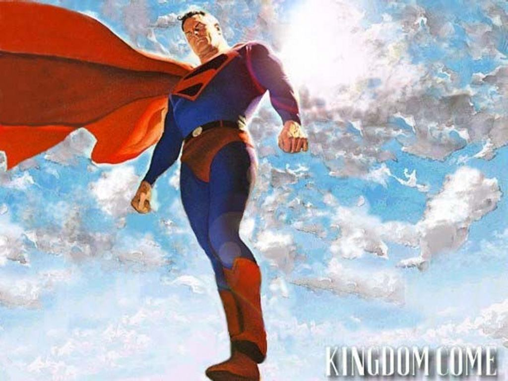 Comics Wallpaper: Superman Standing in the Sky - Kingdom Come