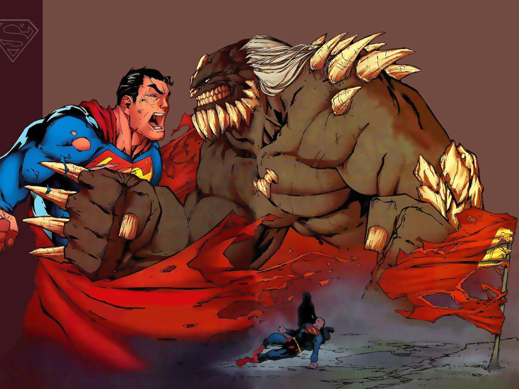Comics Wallpaper: Superman vs Doomsday