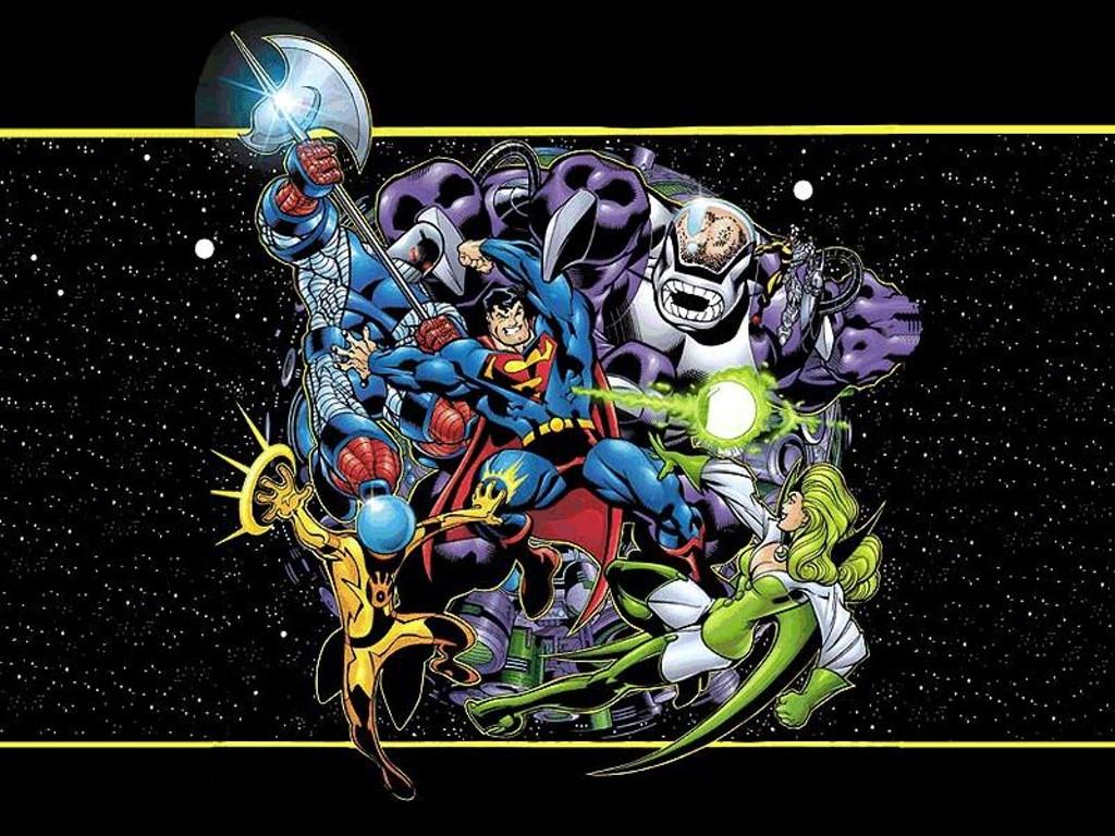 Comics Wallpaper: Superman vs Fatal Five