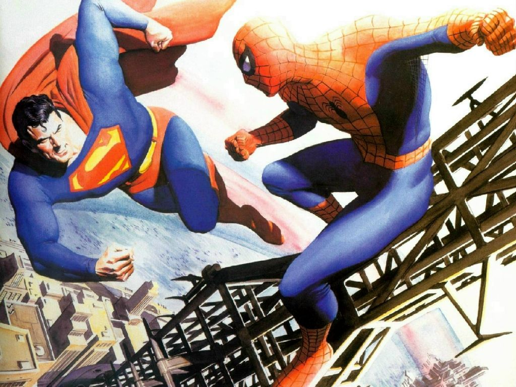 Comics Wallpaper: Superman vs Spider-Man