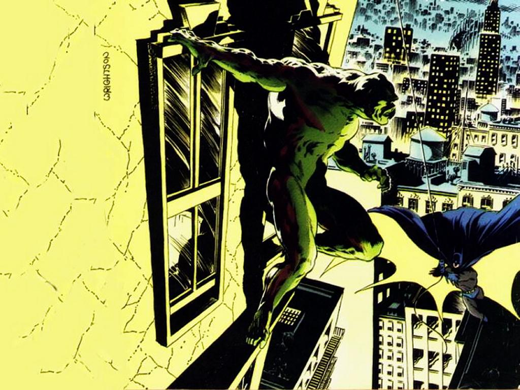 Comics Wallpaper: Swamp Thing and Batman