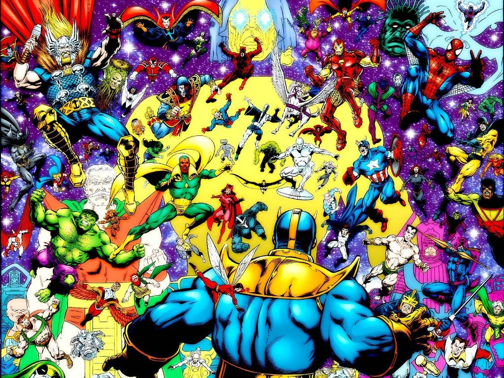 Comics Wallpaper: Thanos vs Marvel Universe