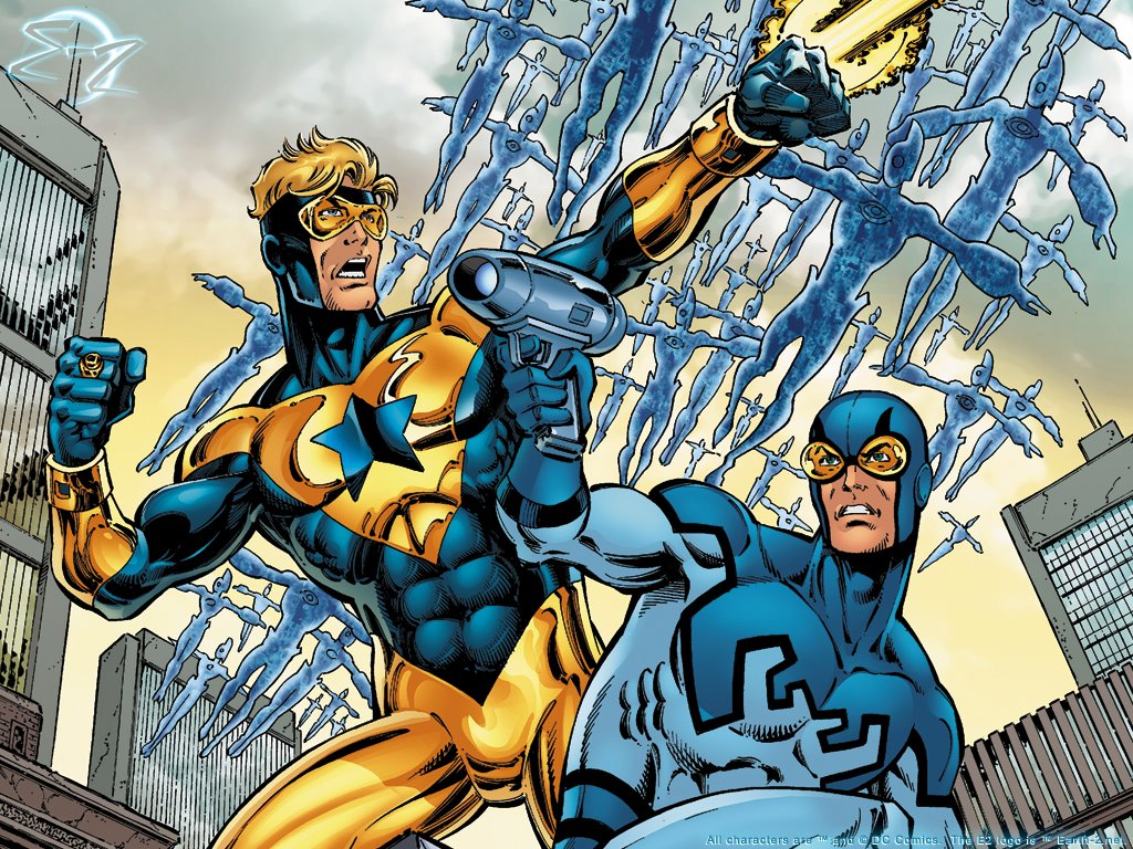 Comics Wallpaper: Booster Gold and Blue Beetle